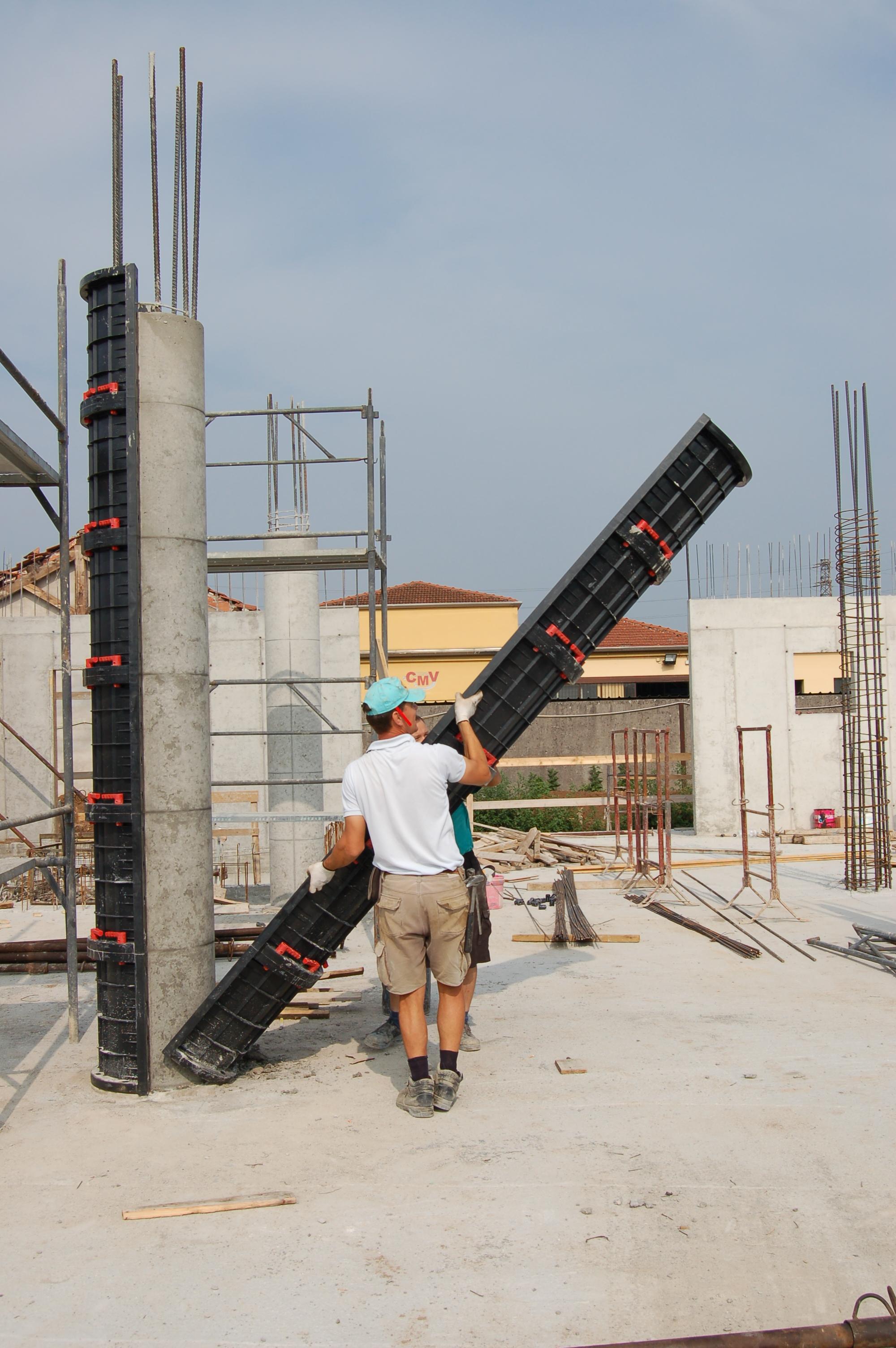 Cofraje refolosibile pentru coloane cilindrice GEOPLAST - Poza 6