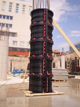 Executie, montaj Cofraje refolosibile pentru coloane cilindrice GEOPLAST - Poza 20