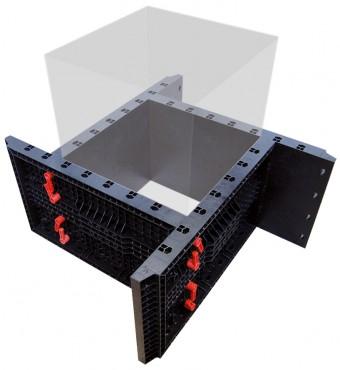 Prezentare produs Panouri refolosibile de cofraj modular GEOPLAST - Poza 1