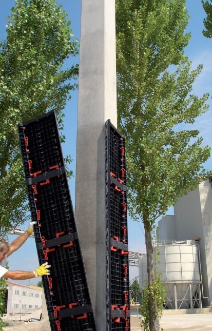 Parti componente ale cofrajelor modulare refolosibile pentru coloane patrate sau dreptunghiulare GEOTUB PANEL Cofraje modulare refolosibile