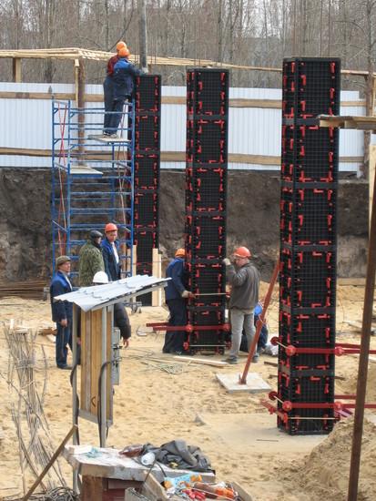 Exemplificarea utilizarii cofrajelor modulare refolosibile pentru coloane patrate GEOTUB PANEL Cofraje modulare refolosibile pentru coloane patrate
