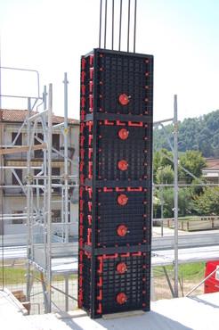 Executie, montaj Cofraje modulare refolosibile pentru coloane patrate sau dreptunghiulare GEOPLAST - Poza 6