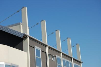Constructie cu coloane dreptunghiulare GEOTUB PANEL Cofraje modulare refolosibile pentru coloane patrate sau dreptunghiulare