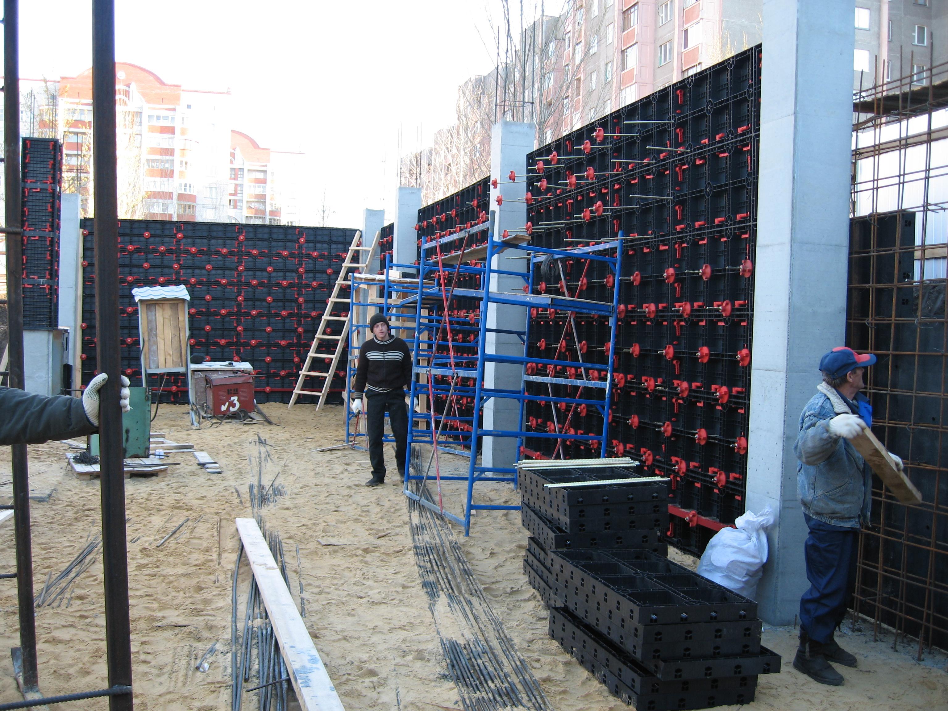 Cofraje refolosibile din material plastic pentru zidari GEOPLAST - Poza 3