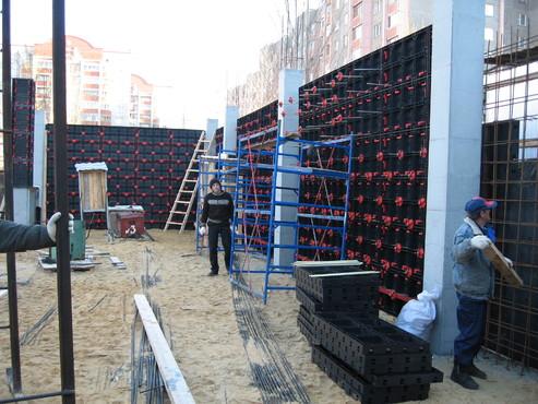 Executie, montaj Cofraje refolosibile din material plastic pentru zidari GEOPLAST - Poza 3