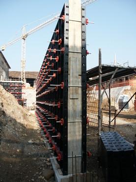 Executie, montaj Cofraje refolosibile din material plastic pentru zidari GEOPLAST - Poza 5