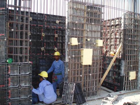 Executie, montaj Cofraje refolosibile din material plastic pentru zidari GEOPLAST - Poza 24