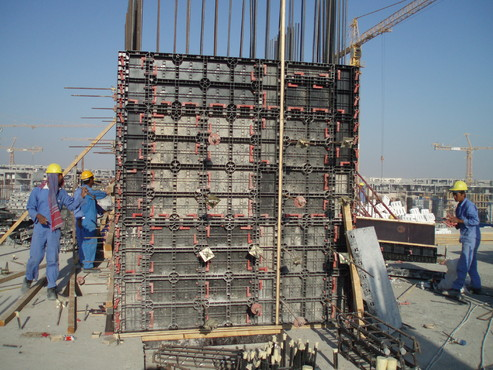 Executie, montaj Cofraje refolosibile din material plastic pentru zidari GEOPLAST - Poza 25