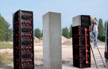 Cofraje reutilizabile cu diverse aplicatii GEOPLAST ofera urmatoarele tipuri de cofraje refolosibile: Cofraje refolosibile pentru realizarea coloanelor cilindrice, Cofraje refolosibile modulare, Cofraje refolosibile pentru zidarii cat si cofraje refolosibile pentru plansee.