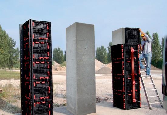 Cofraje reutilizabile cu diverse aplicatii precum zidarie sau plansee GEOPLAST