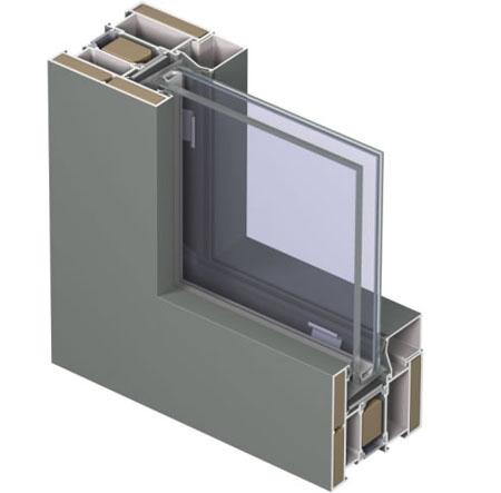 Profile din aluminiu pentru ferestre CS 68 REYNAERS ALUMINIUM - Poza 5