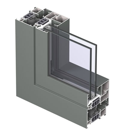 Profile din aluminiu pentru ferestre CS 77 REYNAERS ALUMINIUM - Poza 10