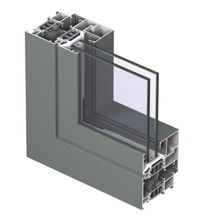 Profile din aluminiu pentru usi CS 77 REYNAERS ALUMINIUM - Poza 14