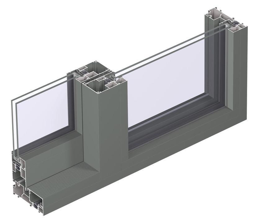 Profile din aluminiu pentru usi glisante CP 130 REYNAERS ALUMINIUM - Poza 30