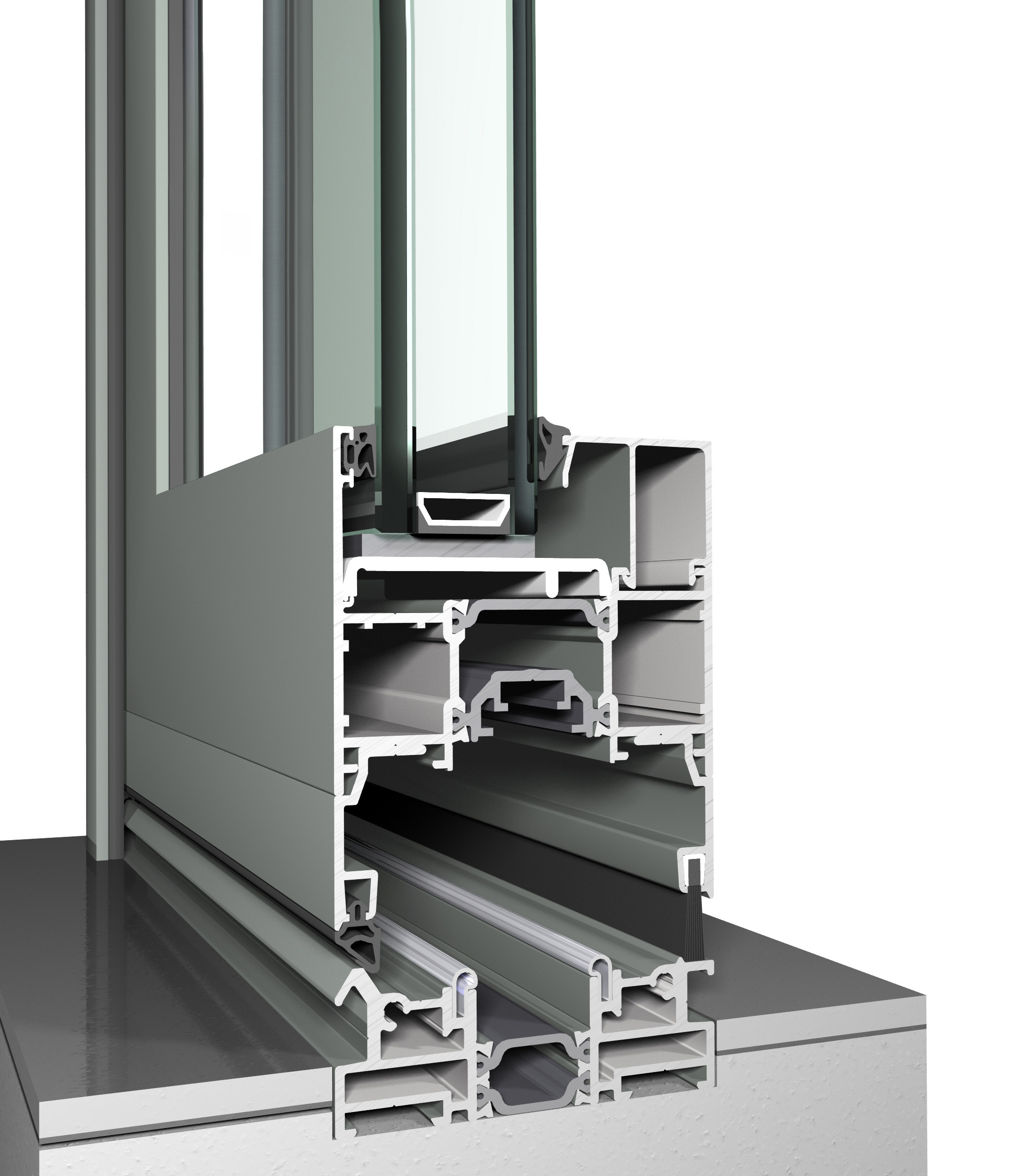 Profile din aluminiu pentru usi glisante CF 77 REYNAERS ALUMINIUM - Poza 33