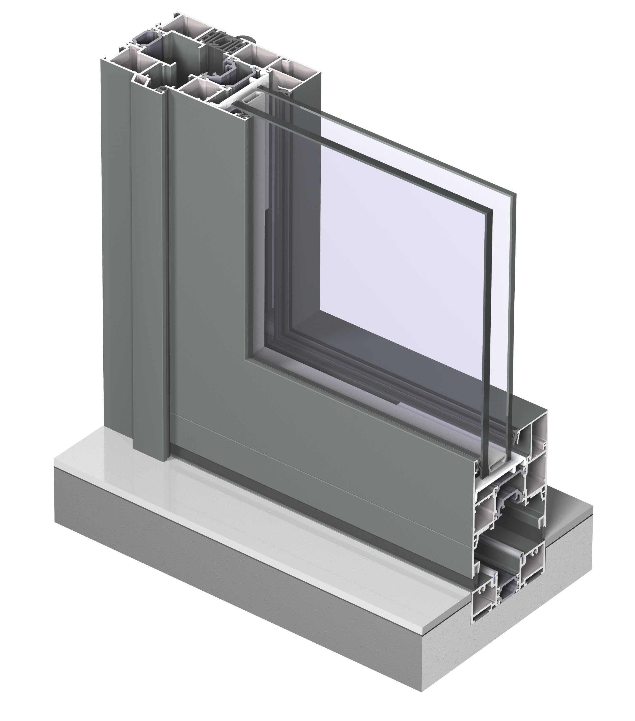 Profile din aluminiu pentru usi glisante CF 77 REYNAERS ALUMINIUM - Poza 37