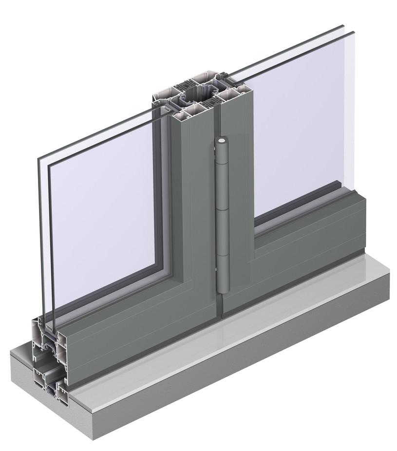 Profile din aluminiu pentru usi glisante CF 77 REYNAERS ALUMINIUM - Poza 38