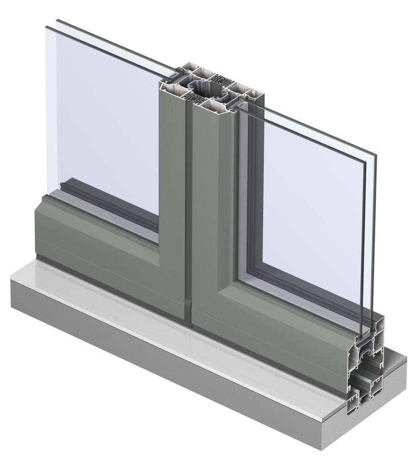 Profile din aluminiu pentru usi glisante CF 77 REYNAERS ALUMINIUM - Poza 39