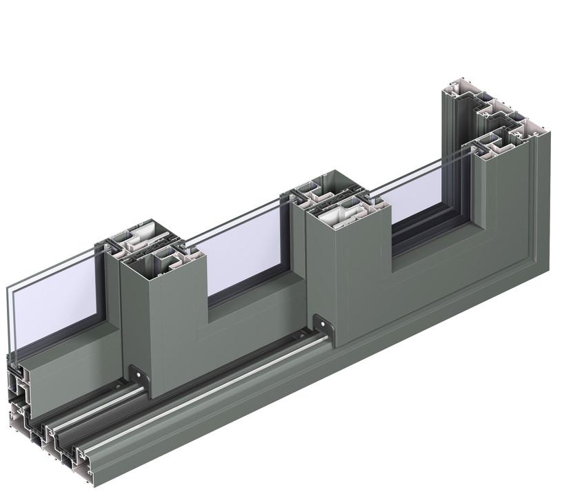 Profile din aluminiu pentru usi glisante CP 155 REYNAERS ALUMINIUM - Poza 40