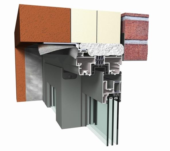 Profile din aluminiu pentru usi glisante CP 155 REYNAERS ALUMINIUM - Poza 44