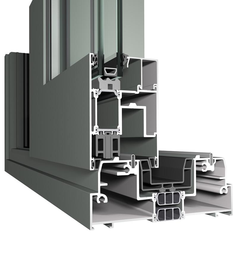 Profile din aluminiu pentru usi glisante CP 155 REYNAERS ALUMINIUM - Poza 45