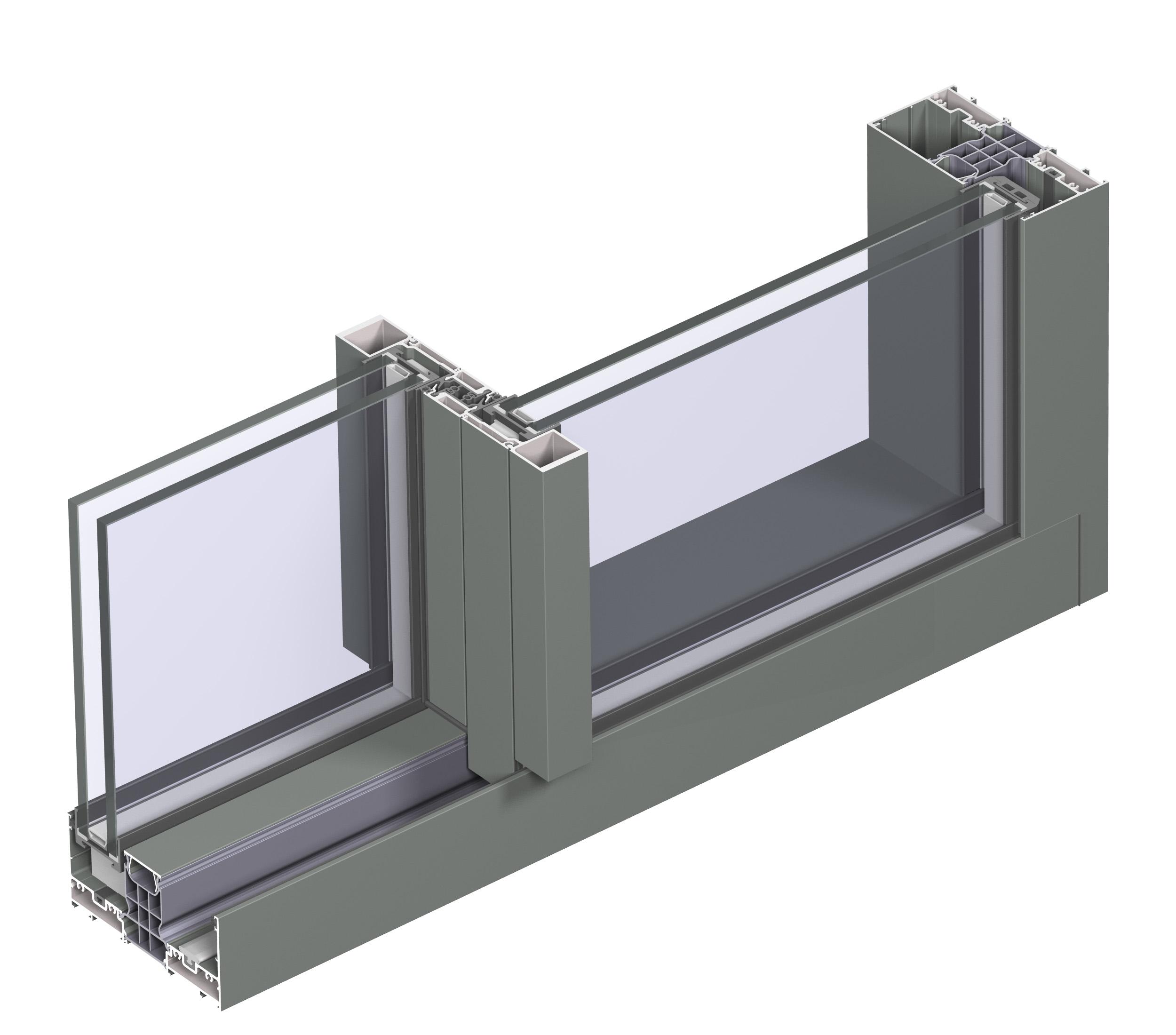 Profile din aluminiu pentru usi glisante Hi-Finity REYNAERS ALUMINIUM - Poza 49