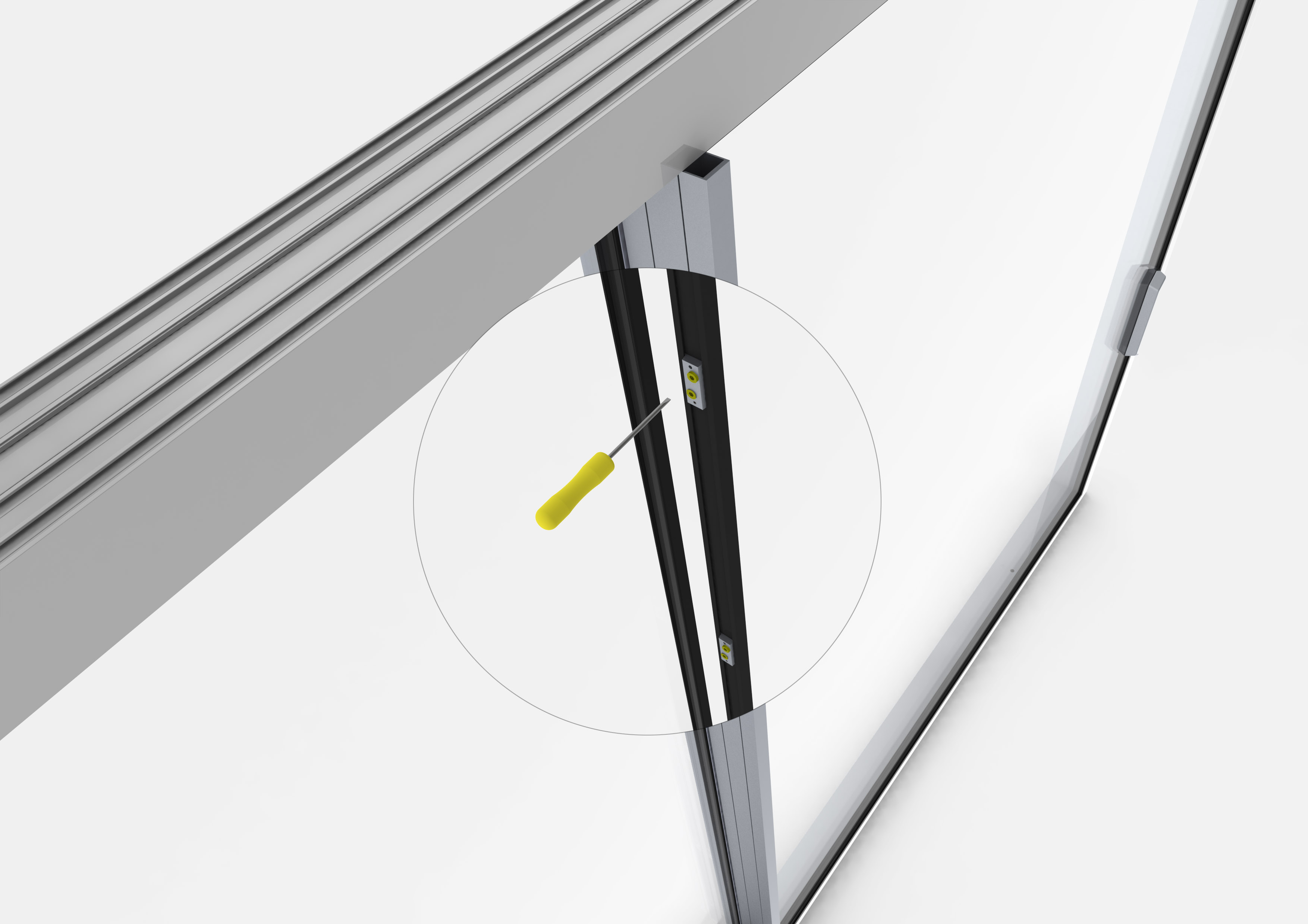 Profile din aluminiu pentru usi glisante Hi-Finity REYNAERS ALUMINIUM - Poza 52
