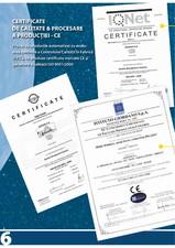 Certificat de calitate & procesare a productiei - CE Agogos