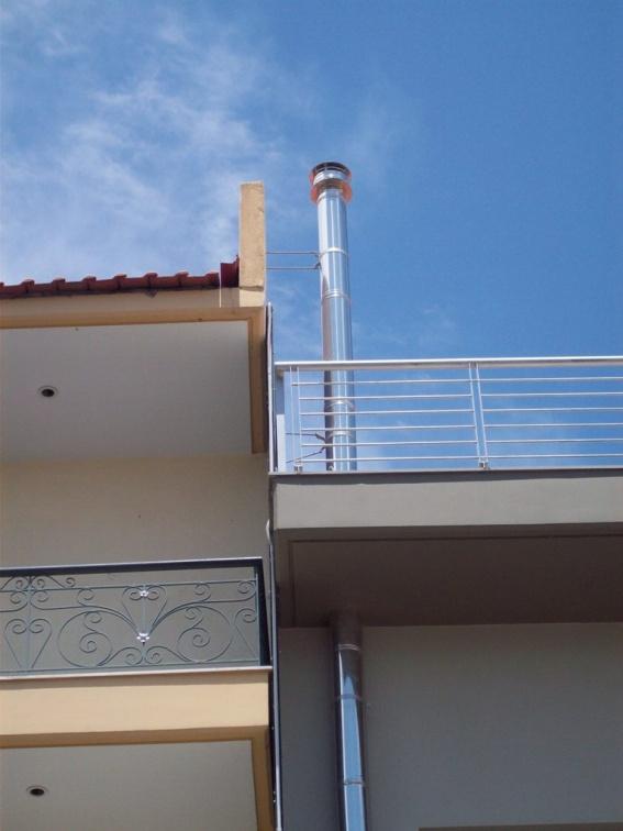 Cos de fum din inox Agogos - Poza 1