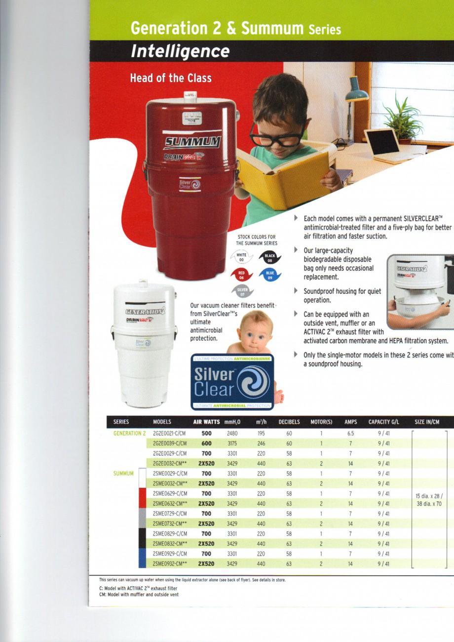 Pagina 3 - Aspiratoare centrale de praf DRAINVAC AUTOMATIK, AUTOMATIK Comercial, ATOMIK, CYCLONIK,...