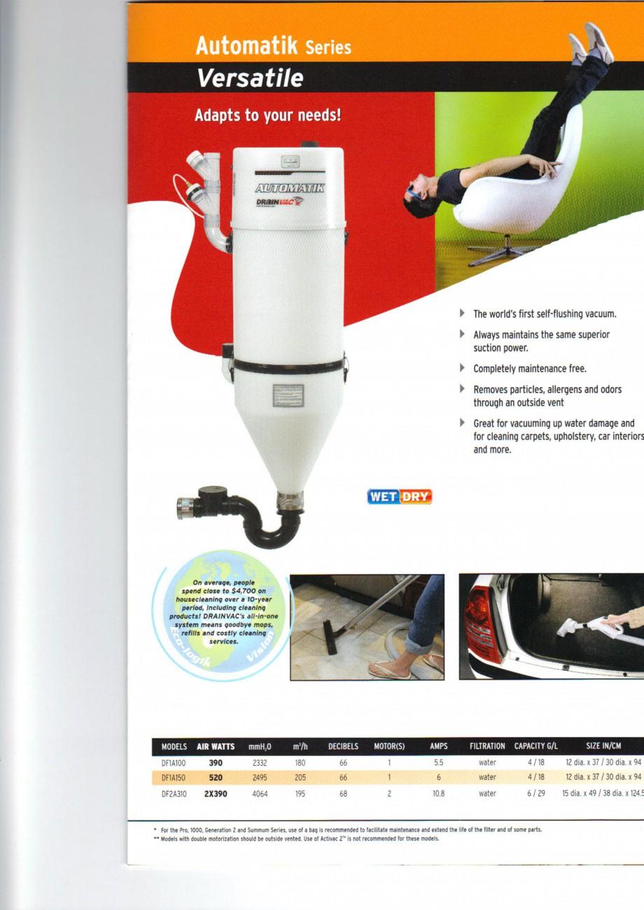 Pagina 5 - Aspiratoare centrale de praf DRAINVAC AUTOMATIK, AUTOMATIK Comercial, ATOMIK, CYCLONIK,...