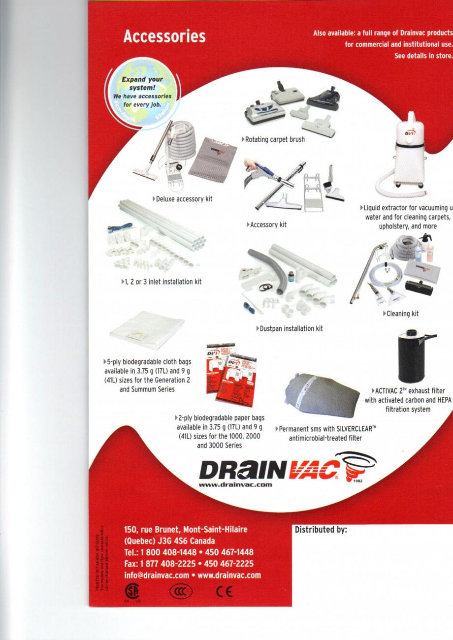 Pagina 6 - Aspiratoare centrale de praf DRAINVAC AUTOMATIK, AUTOMATIK Comercial, ATOMIK, CYCLONIK,...