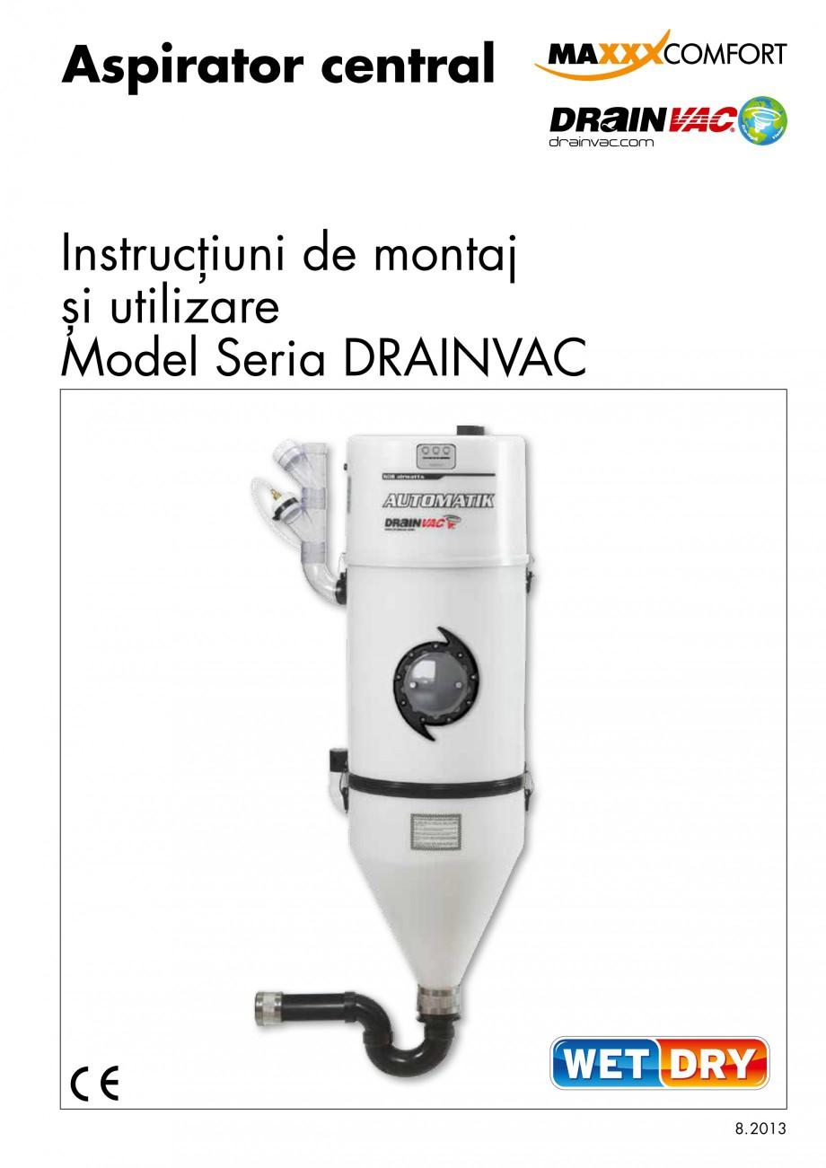 Pagina 1 - Aspirator central de praf rezidential DRAINVAC AUTOMATIK Instructiuni montaj, utilizare...
