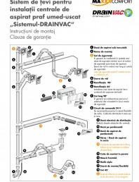 Sistem de tevi pentru instalatii centrale de aspirat praf umed-uscat