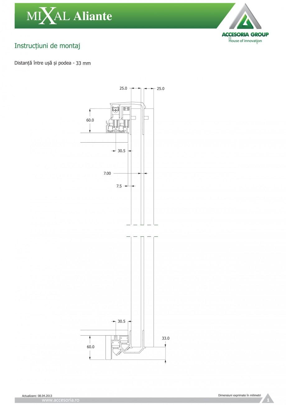 Pagina 2 - Usi glisante aplicate ACCESORIA GROUP Aliante Instructiuni montaj, utilizare Romana