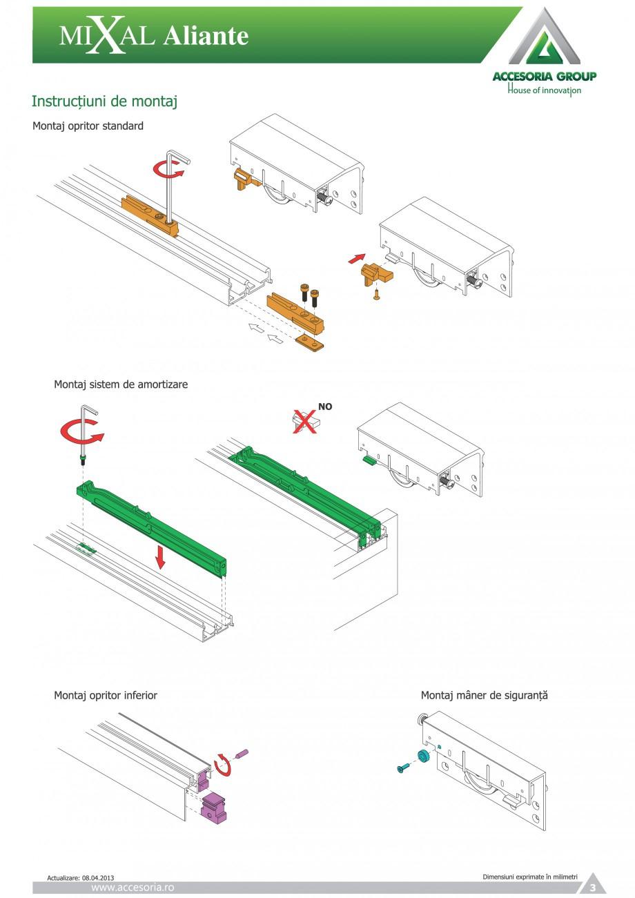 Pagina 4 - Usi glisante aplicate ACCESORIA GROUP Aliante Instructiuni montaj, utilizare Romana