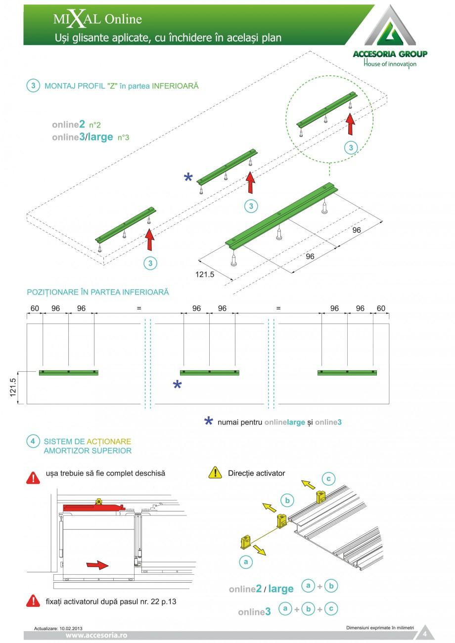 Pagina 5 - Usi glisante aplicate, cu inchidere in acelasi plan ACCESORIA GROUP Online Instructiuni...