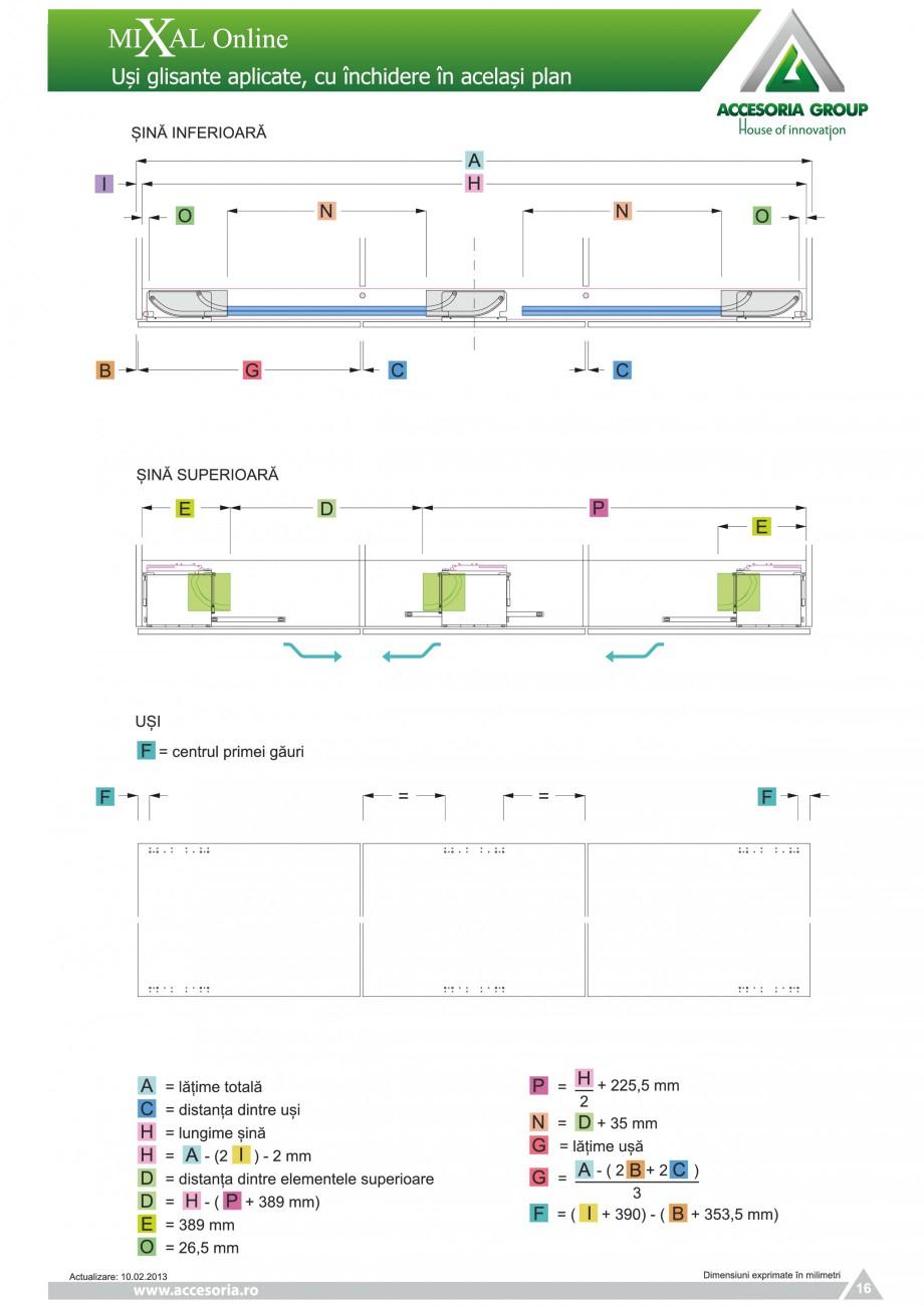 Pagina 17 - Usi glisante aplicate, cu inchidere in acelasi plan ACCESORIA GROUP Online Instructiuni ...
