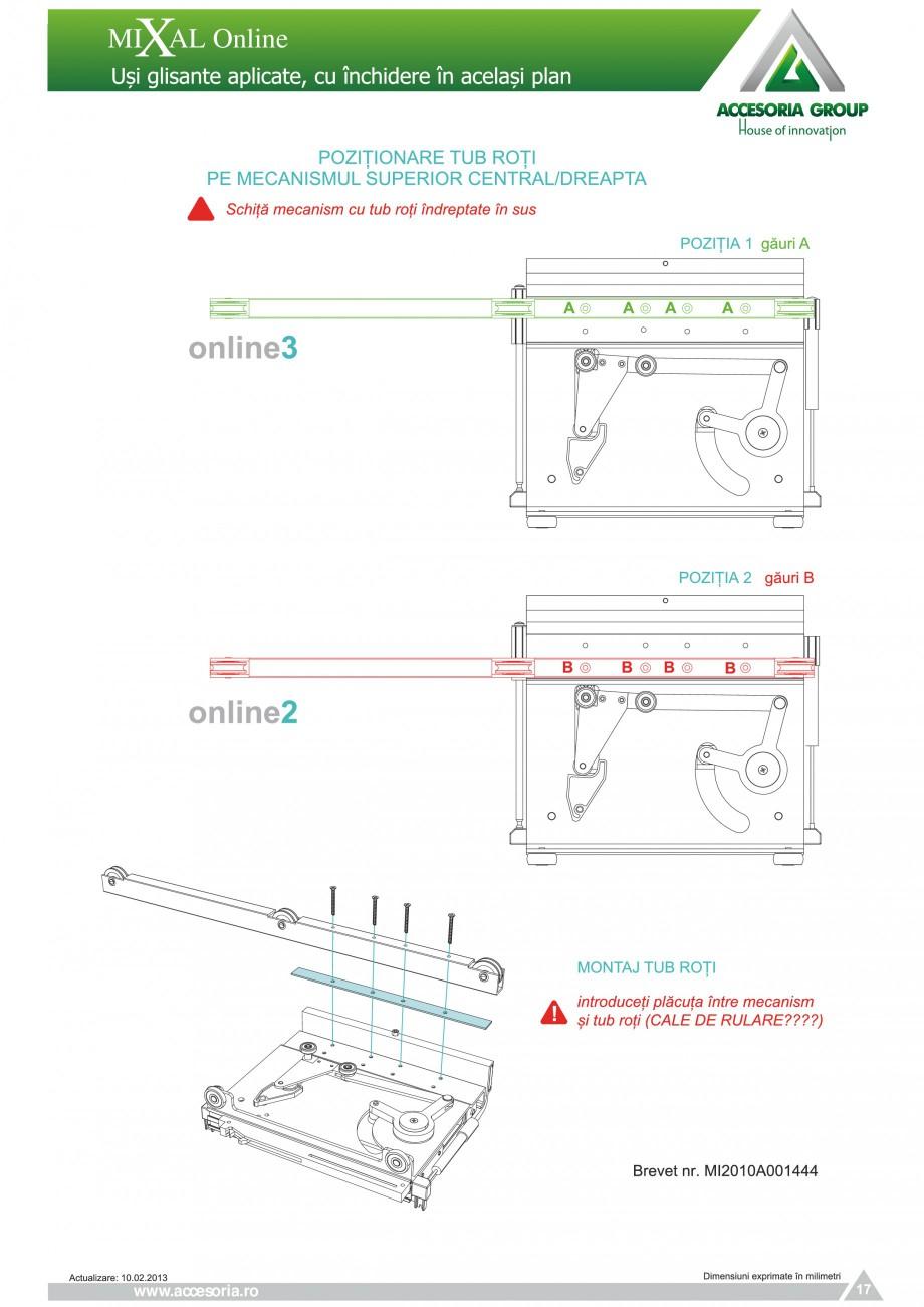 Pagina 18 - Usi glisante aplicate, cu inchidere in acelasi plan ACCESORIA GROUP Online Instructiuni ...