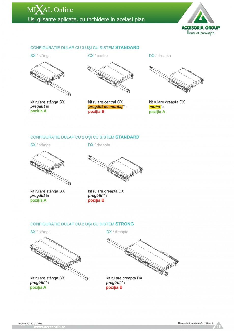 Pagina 19 - Usi glisante aplicate, cu inchidere in acelasi plan ACCESORIA GROUP Online Instructiuni ...