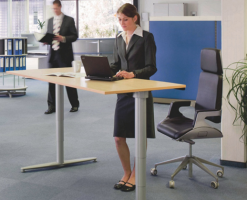 Mese cu inaltime reglabila SUSPA va ofera mese cu inaltime reglabila potrivita pentru birou si pentru acasa. ELS 3 este sistemul pentru reglarea electronica a inaltimii mesei.