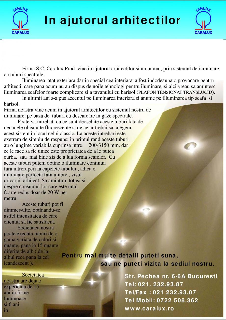 Pagina 1 - Solutii de iluminat interior si exterior cu tuburi Cold Catode - Arhitecti CARALUX...