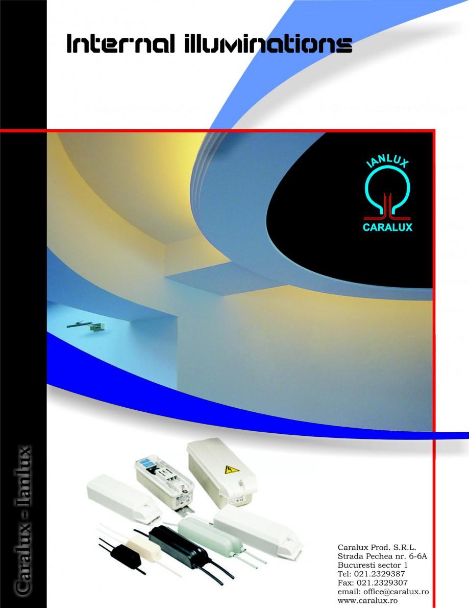 Pagina 1 - Iluminarea interioare - Neon Light   CARALUX Catalog, brosura Engleza Internal...