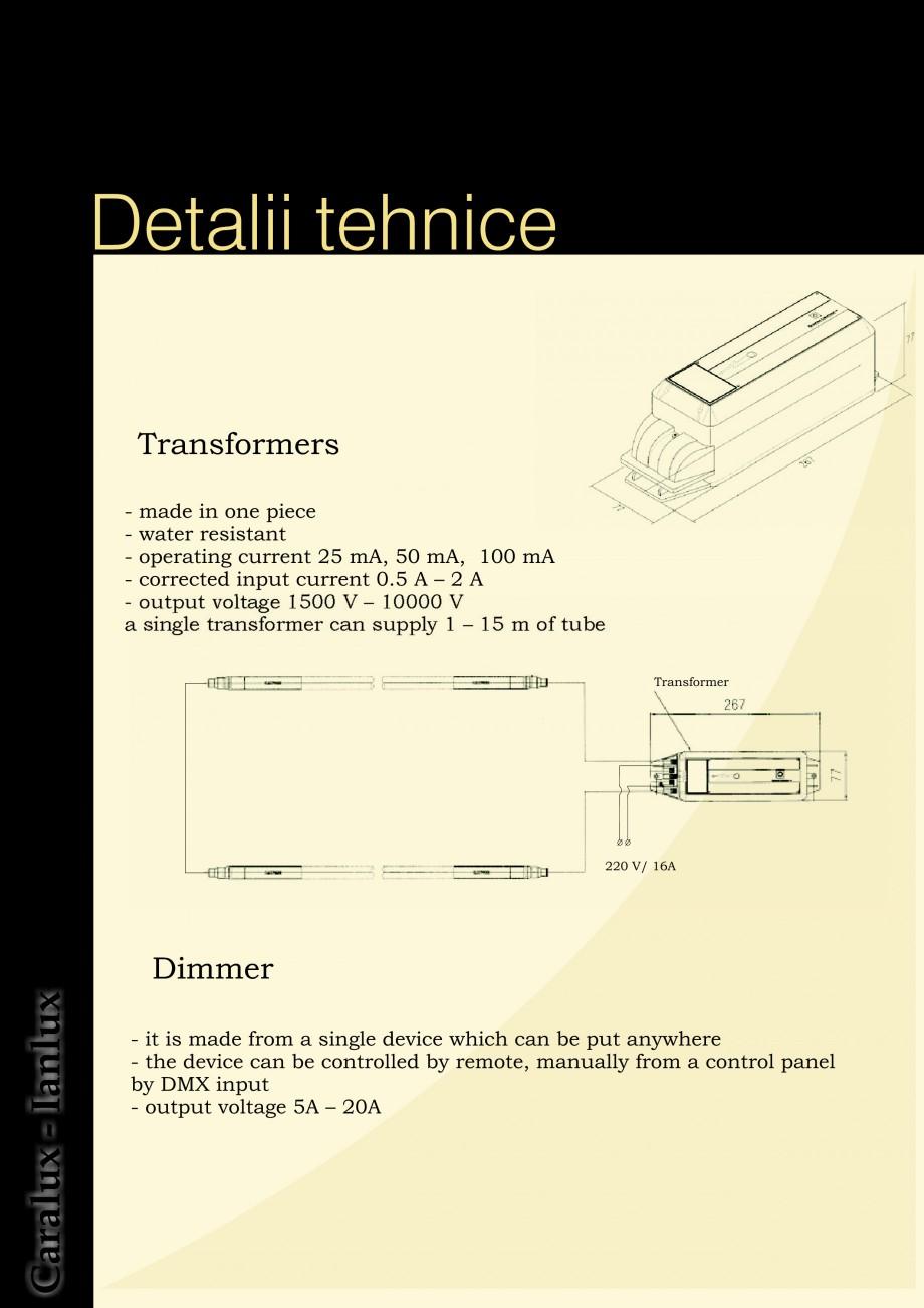 Pagina 4 - Iluminarea interioare - Neon Light   CARALUX Catalog, brosura Engleza   220 V/ 16A ...