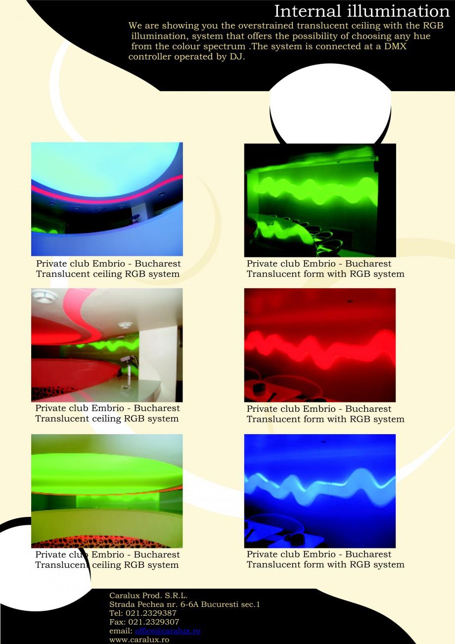 Pagina 7 - Iluminarea interioare - Neon Light   CARALUX Catalog, brosura Engleza ssibility of vary...