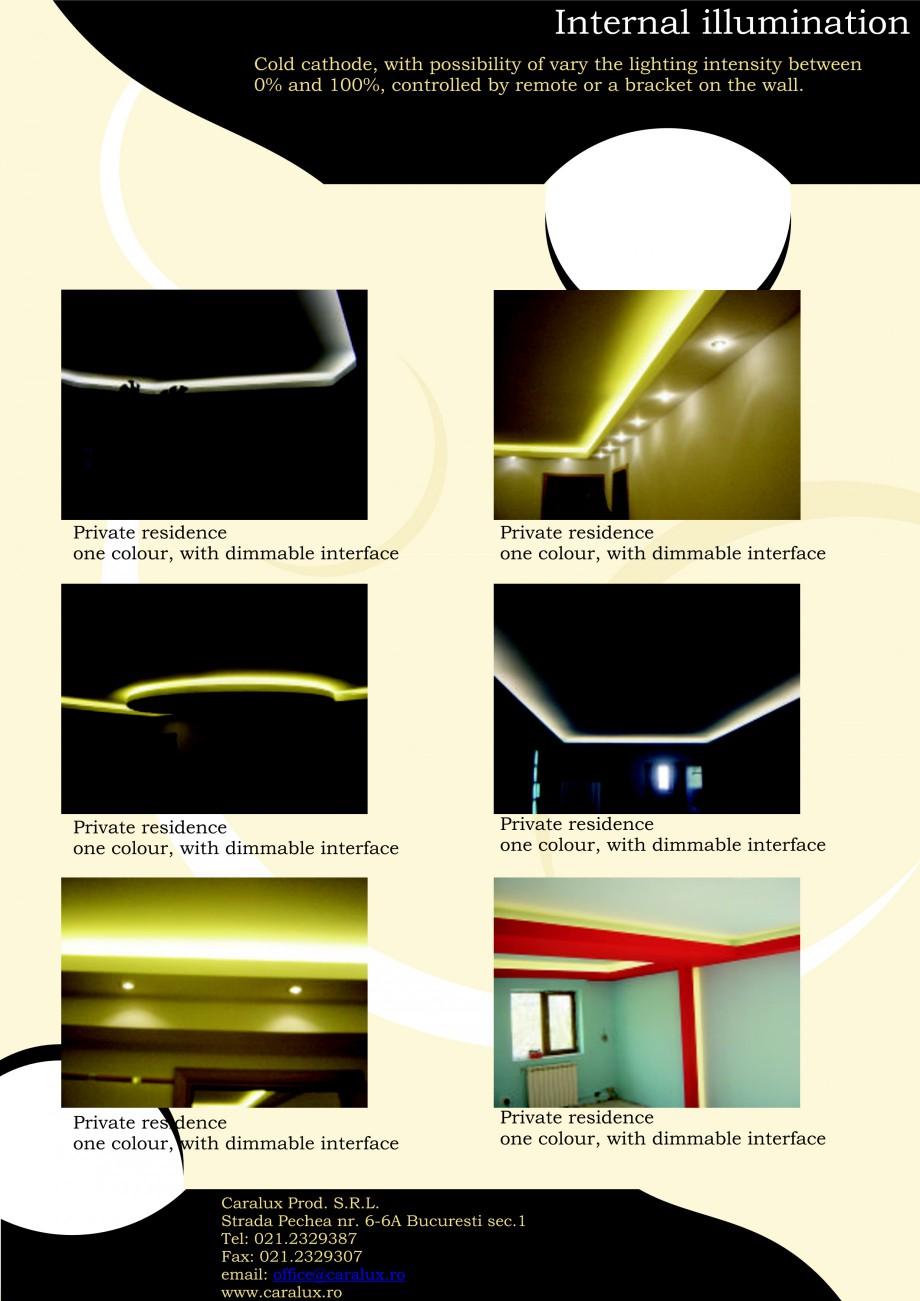 Pagina 9 - Iluminarea interioare - Neon Light   CARALUX Catalog, brosura Engleza S.R.L. Strada...