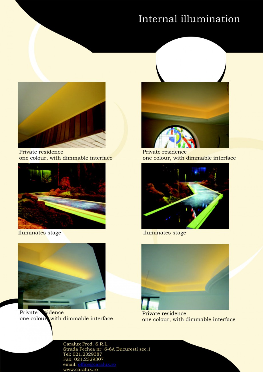 Pagina 15 - Iluminarea interioare - Neon Light   CARALUX Catalog, brosura Engleza