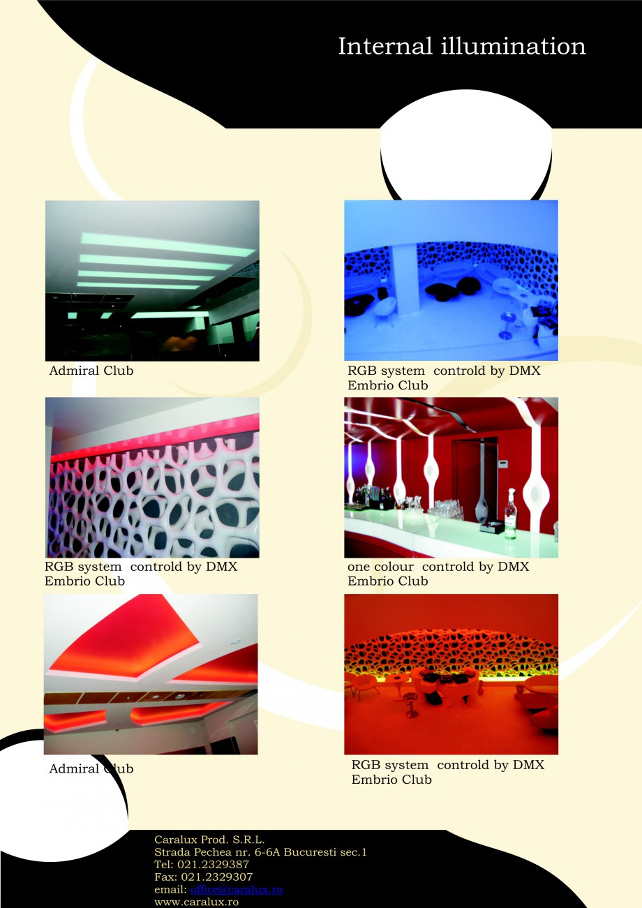Pagina 19 - Iluminarea interioare - Neon Light   CARALUX Catalog, brosura Engleza