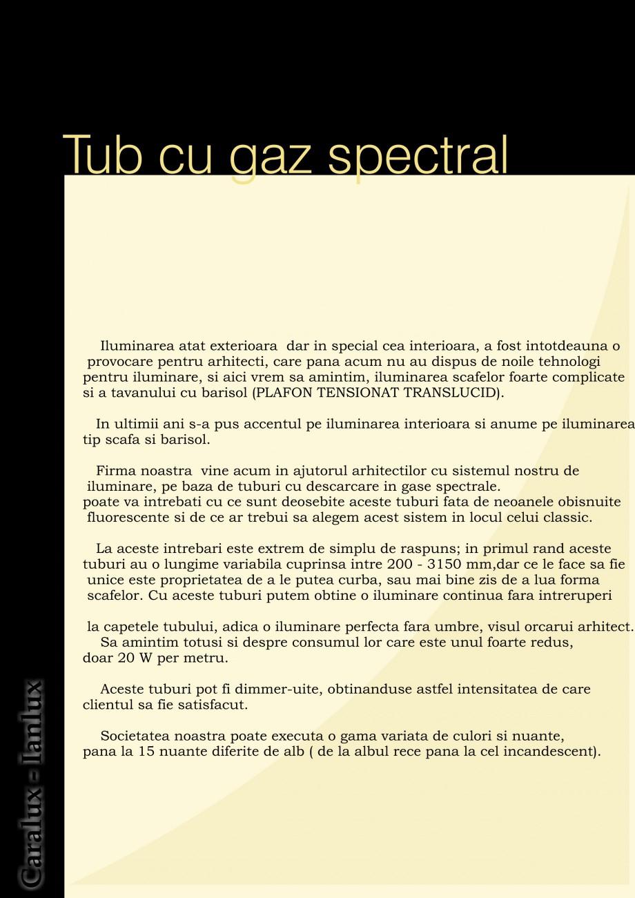 Pagina 2 - Iluminarea interioare - Neon Light CARALUX Catalog, brosura Romana ul rand aceste tuburi ...