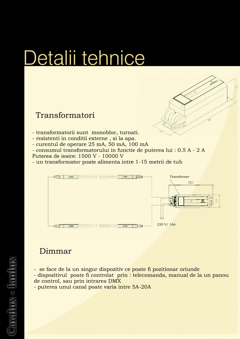 Pagina 4 - Iluminarea interioare - Neon Light CARALUX Catalog, brosura Romana ta cu electrozi...